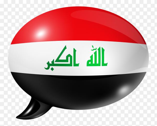 Iraqi flag – Iraq flag shaped speech bubble transparent PNG