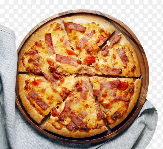 Italian pizza sliced ham bacon cheese – royalty free PN