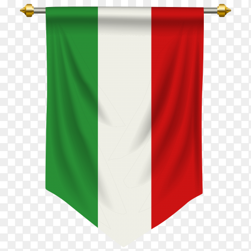 Italy pennant flag vector PNG