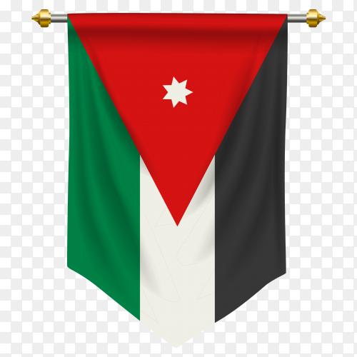 Jordan pennant flag vector PNG