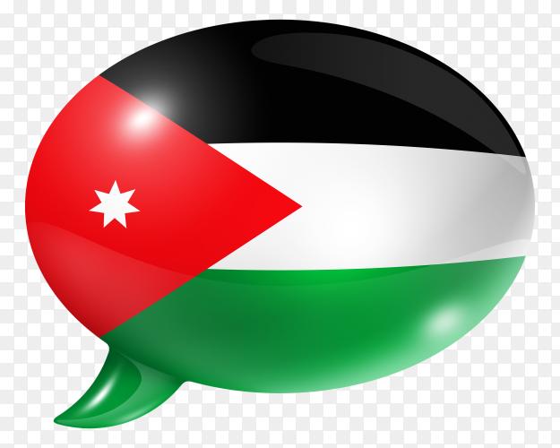 Jordanian flag – Jordan flag shaped speech bubble transparent PNG
