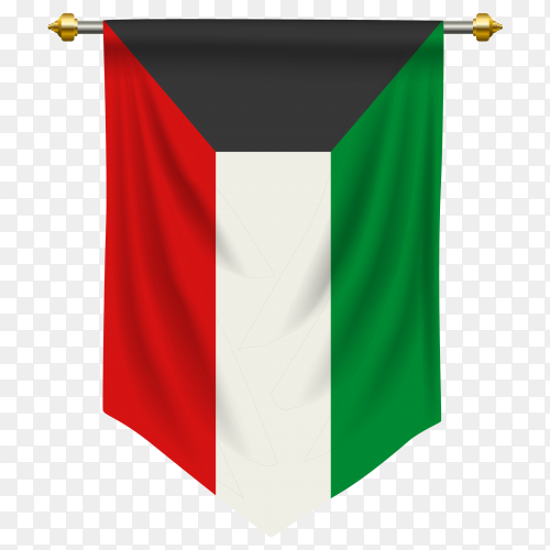 Kuwait pennant flag vector PNG