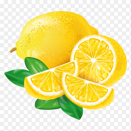 Lemon vector transparent PNG