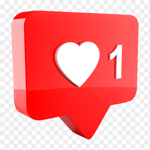Like concept of your followers icon PNG