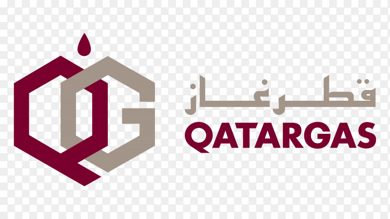 Logo qatar gas vector transparent PNG