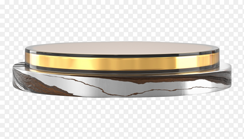 Luxury-golden stage podium 3d on transparent background PNG