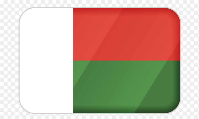 Madagascar flag icon on transparent background PNG