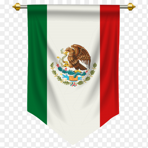 Mexico pennant flag vector PNG