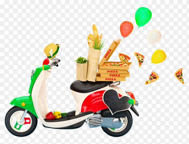 Motorcycle for delivery premium image transparent PNG