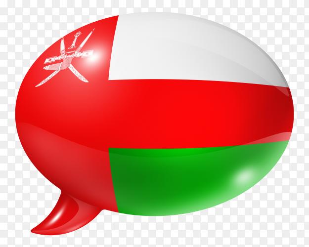 Oman flag shaped speech bubble transparent PNG