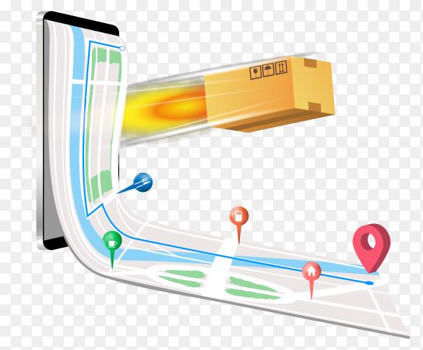 Online delivery concept transparent PNG
