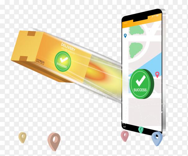 Online delivery smartphone concept transparent PNG