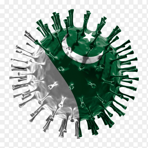 Pakistan flag Shaped covid-19 virus transparent PNG