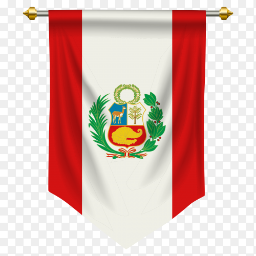 Peru pennant flag clipart PNG
