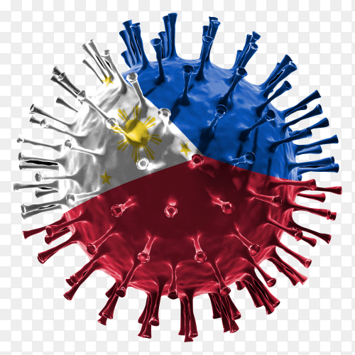 Philippines flag Shaped covid-19 virus transparent PNG