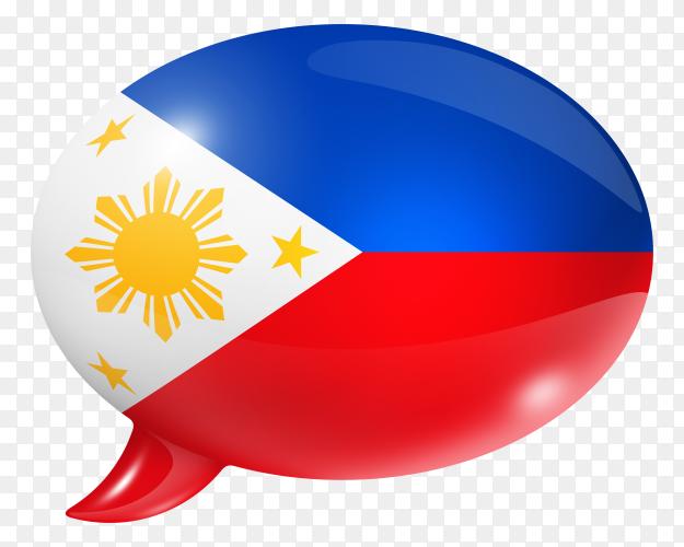 Philippines flag shaped speech bubble transparent PNG