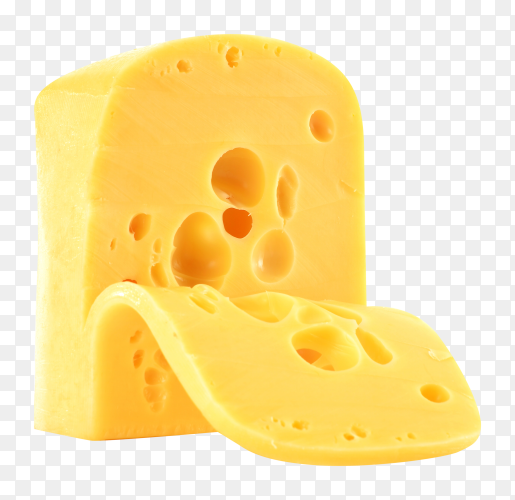 Piece cheese on transparent background PNG