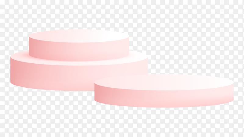 Pink Podium studio on transparent background PNG
