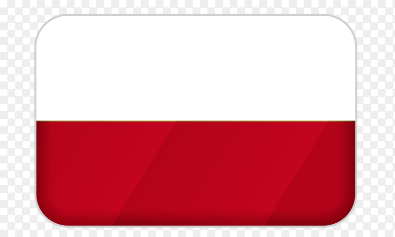 Poland flag icon on transparent background PNG