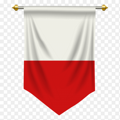 Poland pennant flag vector PNG