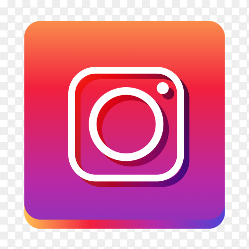 Popular social media Instagram icon transparent PNG