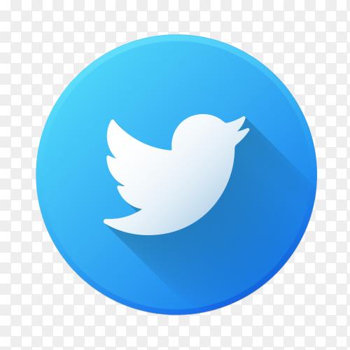 Premium logo Twitter transparent PNG