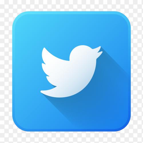 Premium logo Twitter vector PNG