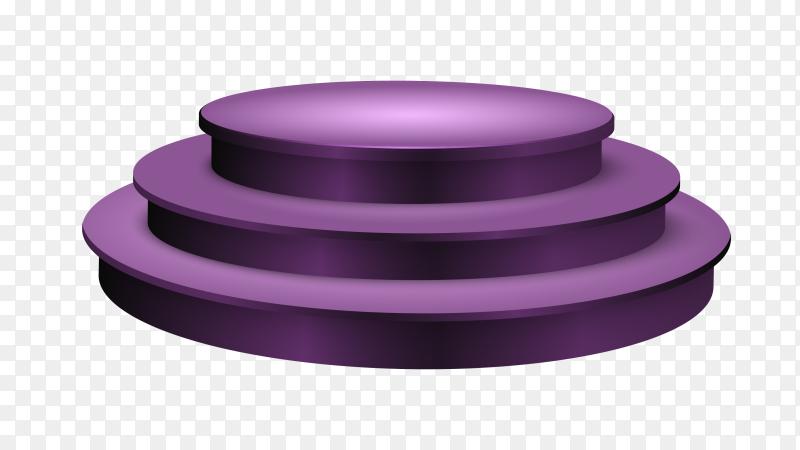 Purple Pedestal – podium on transparent background PNG