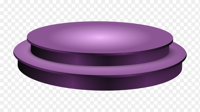 Purple podium on transparent background PNG