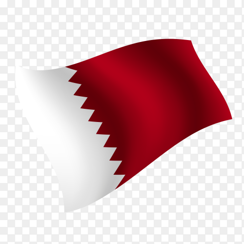 Qatar flag waving vector on transparent background PNG