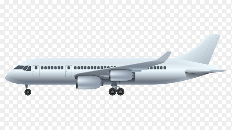 Realistic airplane vector royalty free PNG