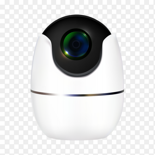 Realistic cctv security camera clipart PNG