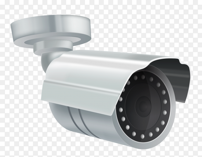 Realistic cctv security camera transparent PNG