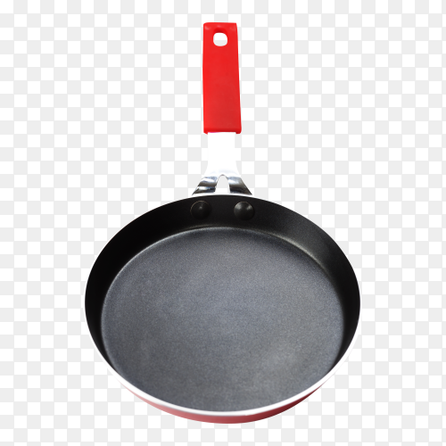 Red pan on transparent background PNG