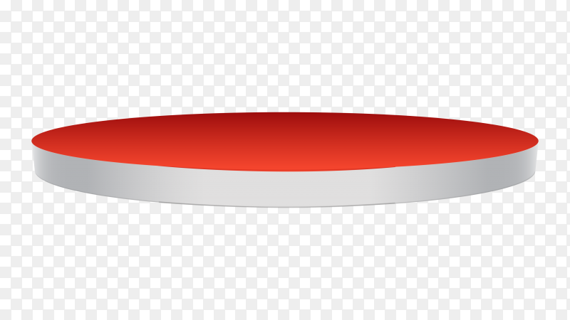 Red podium – stage pedestal – on transparent background PNG