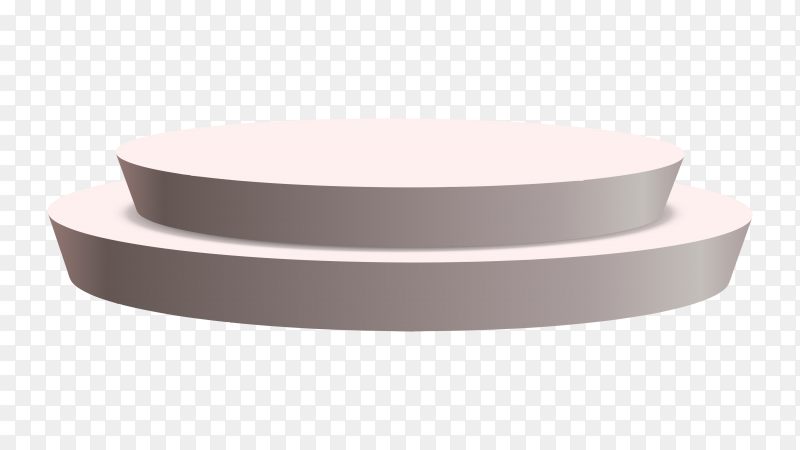 Round podium 3d on transparent background PNG