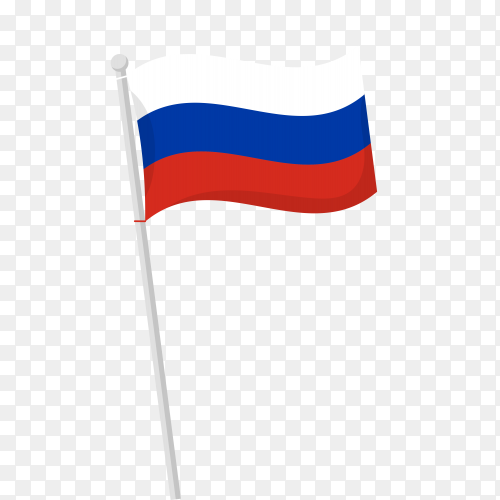 Russia flag clipart on transparent background PNG