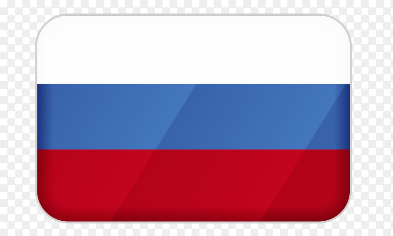 Russia flag icon on transparent background PNG