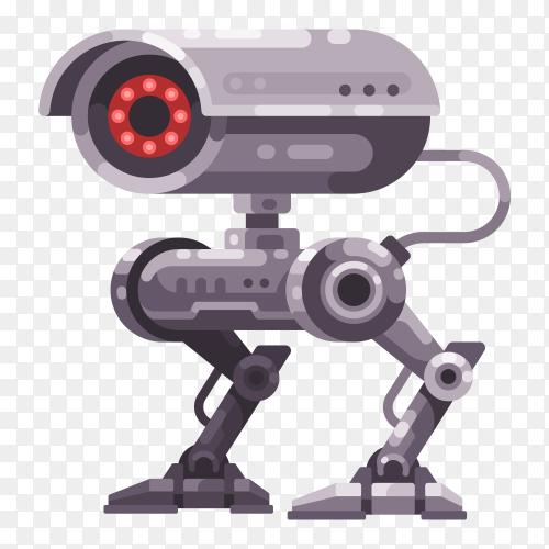 Security camera robot illustration transparent PNG
