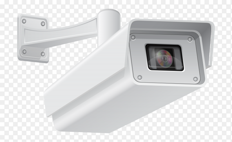 Security camera vector transparent PNG