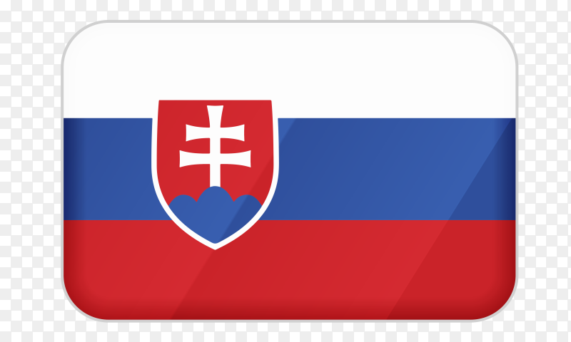 Slovakia flag icon on transparent background PNG