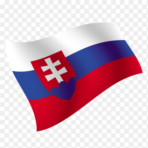 Slovakia flag waving vector on transparent background PNG