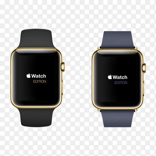 Smart apple watch transparent PNG