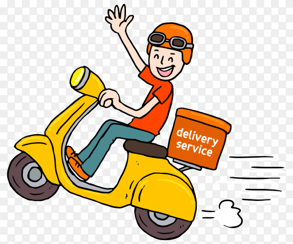 Smiley delivery man transparent PNG