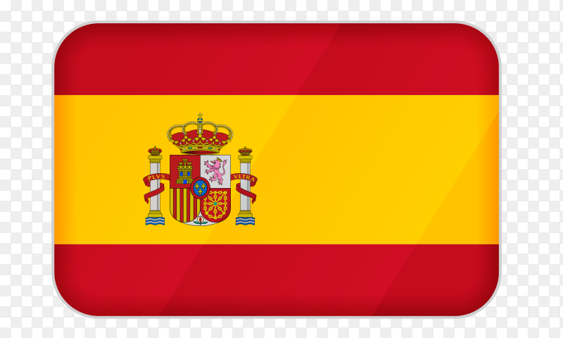 Spain flag icon on transparent background PNG