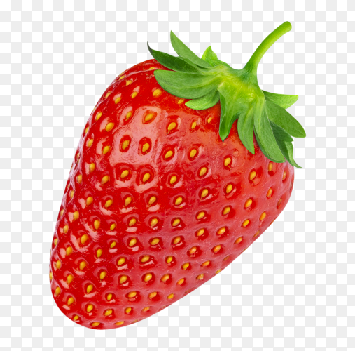 Strawberry on transparent background PNG