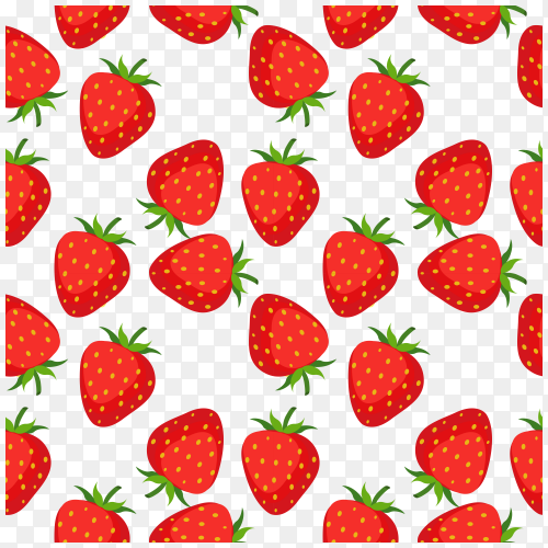 Strawberry seamless pattern Free download PNG
