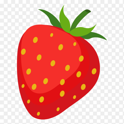 Strawberry vector transparent PNG