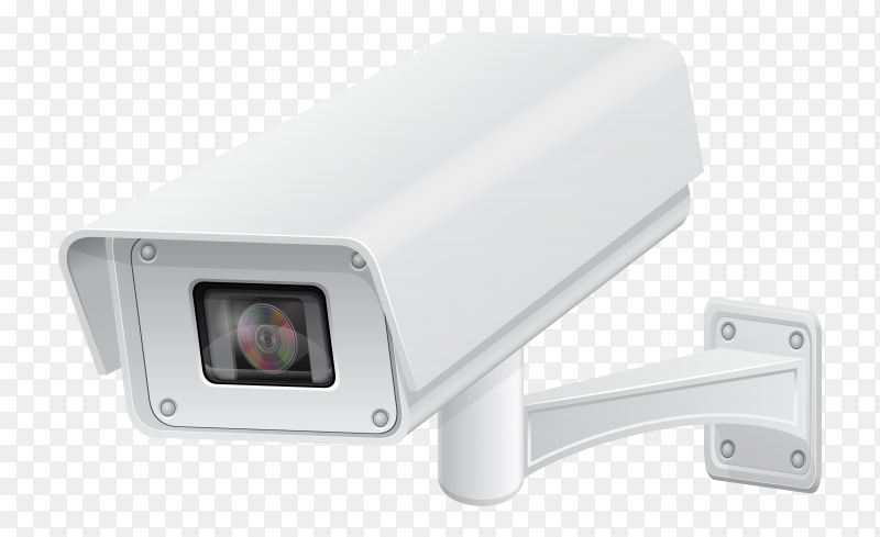 Surveillance camera vector transparent PNG