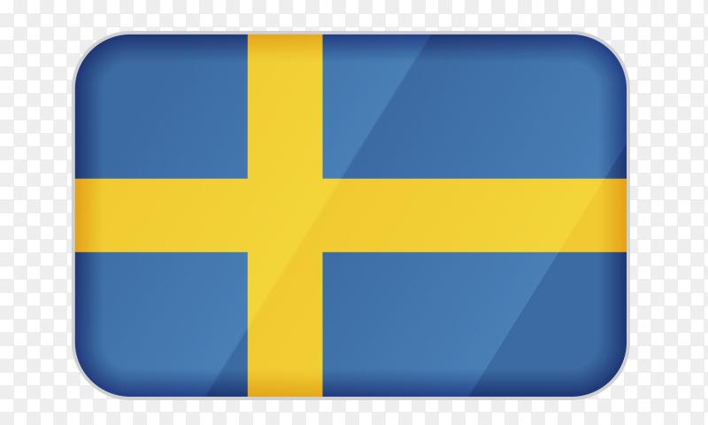 Sweden flag icon on transparent background PNG